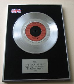 ABC - THE LOOK OF LOVE Platinum Single Presentation Disc